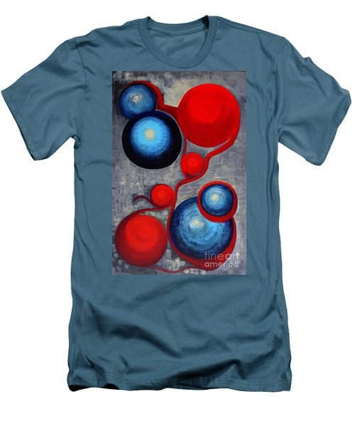 Men's T-Shirt (Slim Fit) featuring the painting Connections by Holly Carmichael