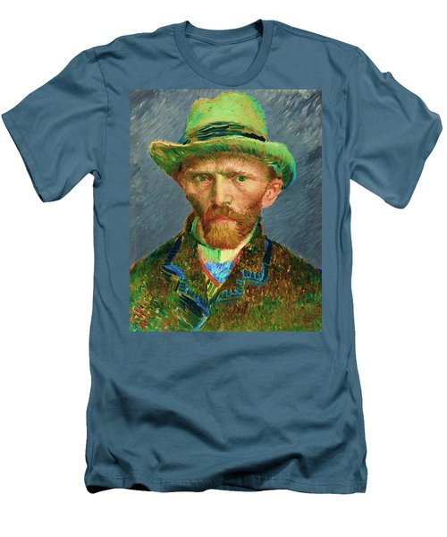 Contemporary 2 Van Gogh Men's T-Shirt (Slim Fit) by David Bridburg