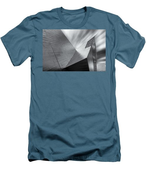 Men's T-Shirt (Slim Fit) featuring the photograph Contemporary Architecture Of The Shops At Crystals, Aria, Las Ve by Adam Romanowicz