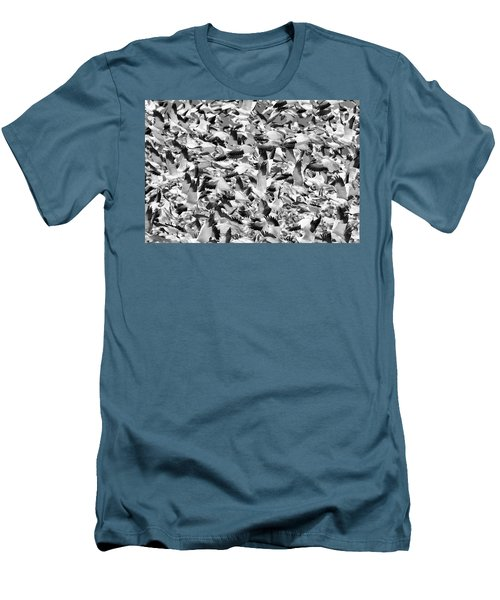 Men's T-Shirt (Slim Fit) featuring the photograph Controlled Chaos Bw by Everet Regal