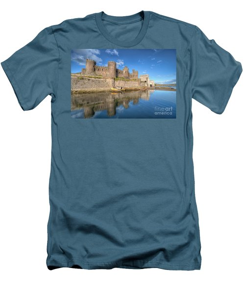 Conwy Castle Men's T-Shirt (Slim Fit) by Adrian Evans