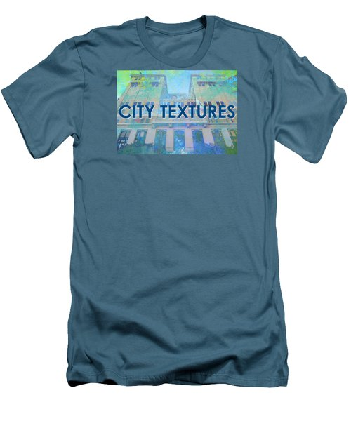 Men's T-Shirt (Slim Fit) featuring the mixed media Cool City Textures by John Fish
