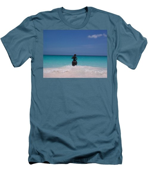 Men's T-Shirt (Slim Fit) featuring the photograph Cool Off Man by Mary-Lee Sanders