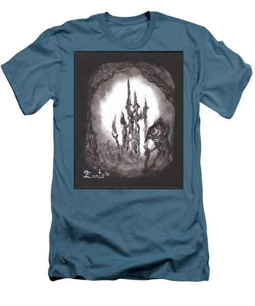 Coral Castle Men's T-Shirt (Slim Fit) by Christophe Ennis