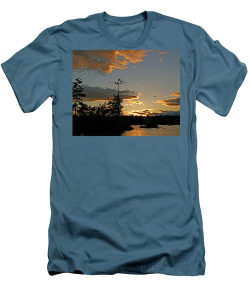 Men's T-Shirt (Slim Fit) featuring the photograph Cormorant Tree by Lynda Lehmann