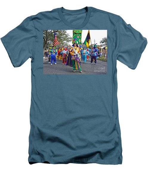 Corner Club 3 -mardi Gras New Orleans Men's T-Shirt (Athletic Fit)