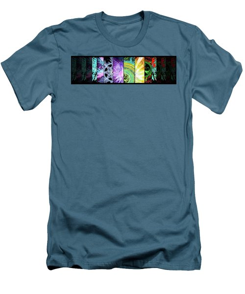 Men's T-Shirt (Athletic Fit) featuring the mixed media Cosmic Collage Mosaic by Shawn Dall
