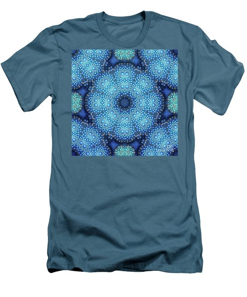 Men's T-Shirt (Slim Fit) featuring the drawing Cote D'azur by Mo T