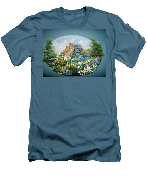 Cottage Vignette Men's T-Shirt (Athletic Fit)