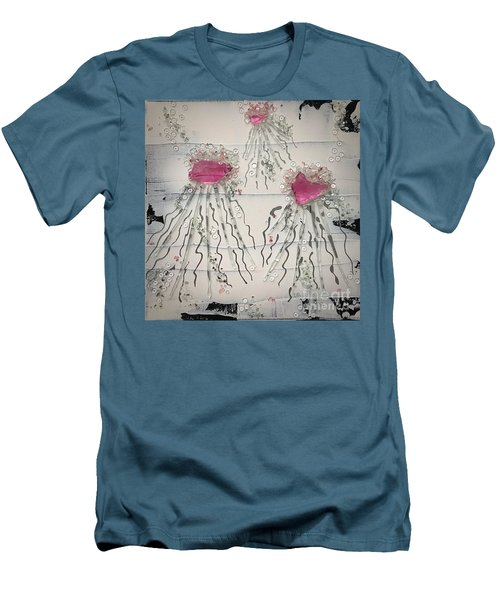 Cotton Candy Jelly-fish Men's T-Shirt (Athletic Fit)