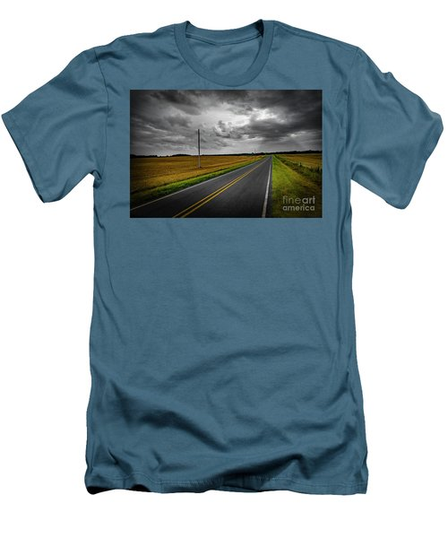 Men's T-Shirt (Slim Fit) featuring the photograph Country Road by Brian Jones