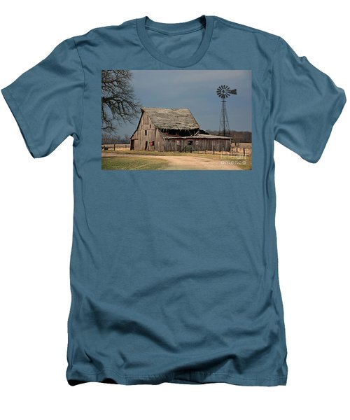 Country Roof Collapse Men's T-Shirt (Athletic Fit)