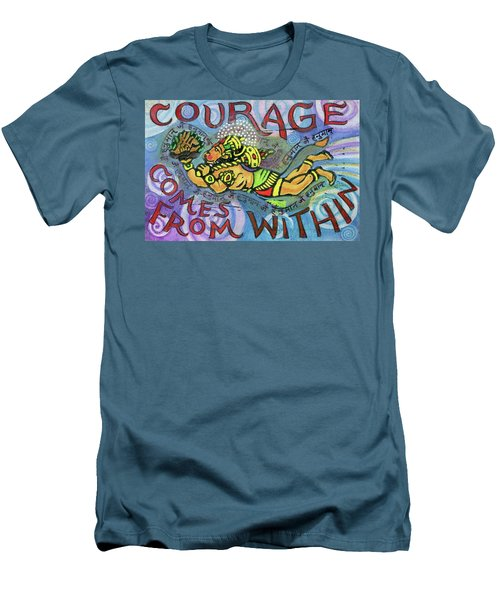 Courage Comrs From Within Men's T-Shirt (Athletic Fit)