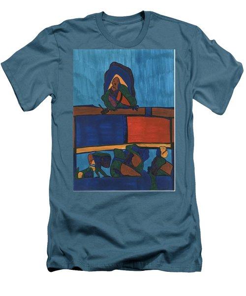 Courtroom  Men's T-Shirt (Slim Fit) by Darrell Black