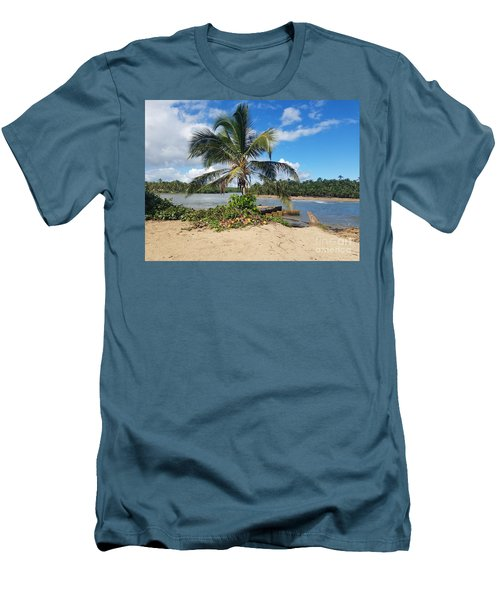 Covered Palm Beach Men's T-Shirt (Athletic Fit)