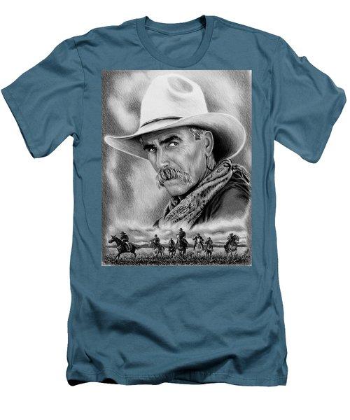 Cowboy Bw Men's T-Shirt (Athletic Fit)