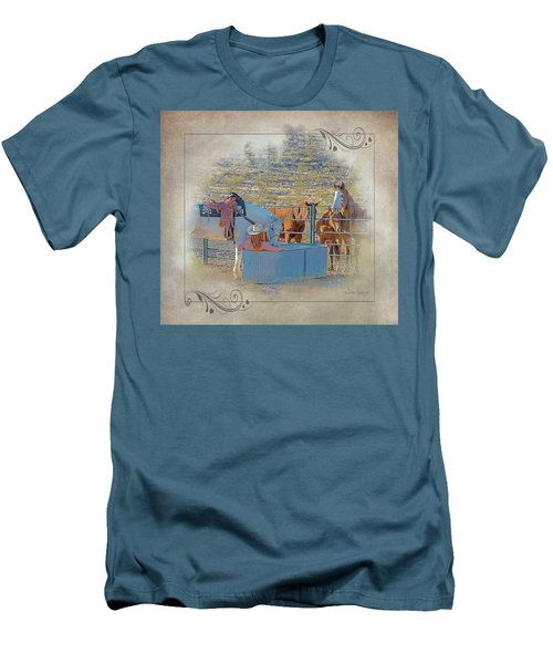 Cowgirl Spa 5p Of 6 Men's T-Shirt (Athletic Fit)