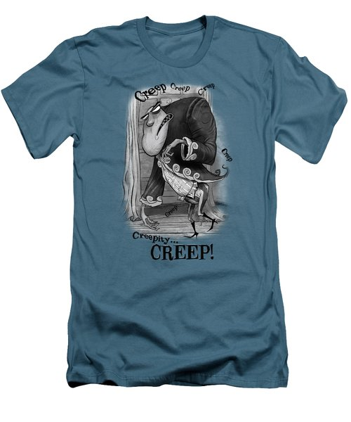 Creepy Men's T-Shirt (Slim Fit) by Andy Catling