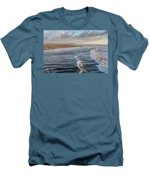 Crests And Birds Men's T-Shirt (Slim Fit) by Greg Nyquist