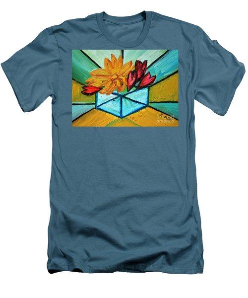 Cubes Men's T-Shirt (Slim Fit) by Ramona Matei