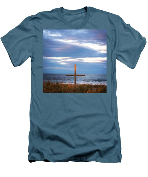 Men's T-Shirt (Slim Fit) featuring the photograph Cross Light Square by Terry DeLuco