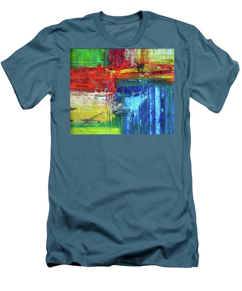 Men's T-Shirt (Slim Fit) featuring the painting Crossroads by Everette McMahan jr