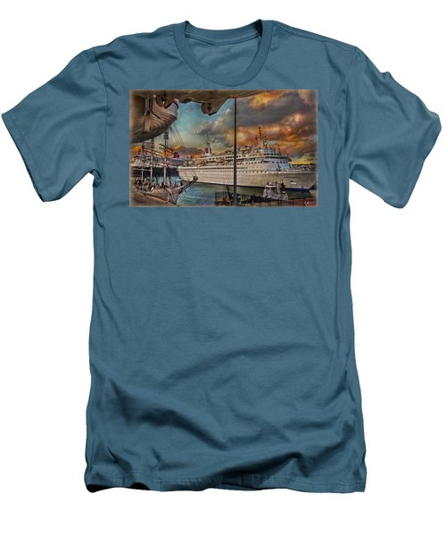 Cruise Port Men's T-Shirt (Slim Fit) by Hanny Heim