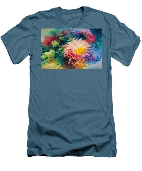 Chrysanthemums Men's T-Shirt (Athletic Fit)