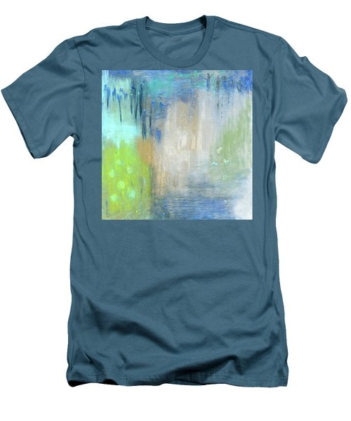 Men's T-Shirt (Slim Fit) featuring the painting Crystal Deep  by Michal Mitak Mahgerefteh