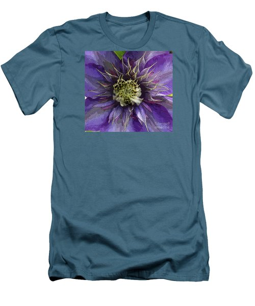 Men's T-Shirt (Slim Fit) featuring the photograph Crystal Fountain by Jeanette French
