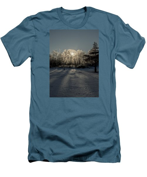 Crystal Glow Men's T-Shirt (Slim Fit) by Annette Berglund