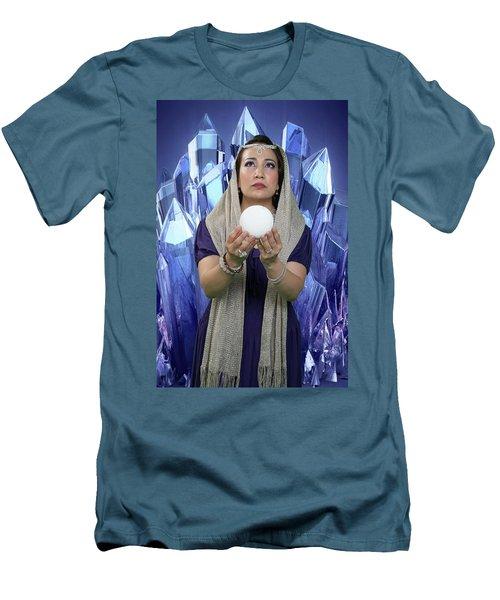 Crystal Goddess Men's T-Shirt (Slim Fit) by David Clanton