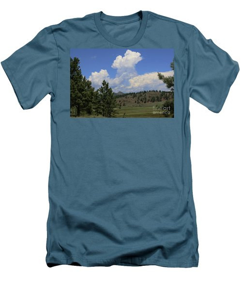 Crystal Peak Colorado Men's T-Shirt (Slim Fit) by Jeanette French