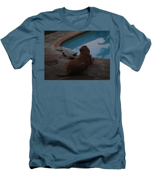 Cujo And The Alligator Men's T-Shirt (Slim Fit) by Val Oconnor