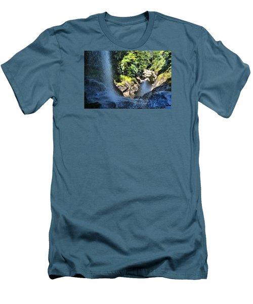 Cullasaja Falls Lookout Men's T-Shirt (Slim Fit) by James Potts