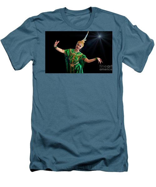 Cultural Thai Dance Men's T-Shirt (Athletic Fit)