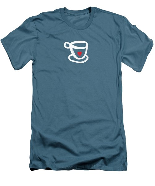 Men's T-Shirt (Slim Fit) featuring the painting Cup Of Love- Shirt by Linda Woods