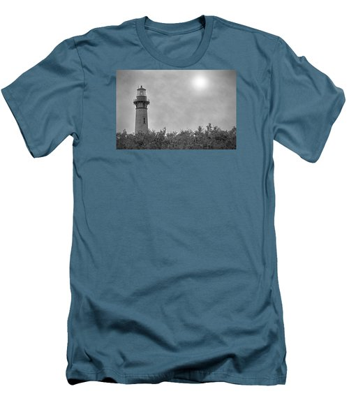 Currituck Lighthouse Men's T-Shirt (Slim Fit) by Marion Johnson