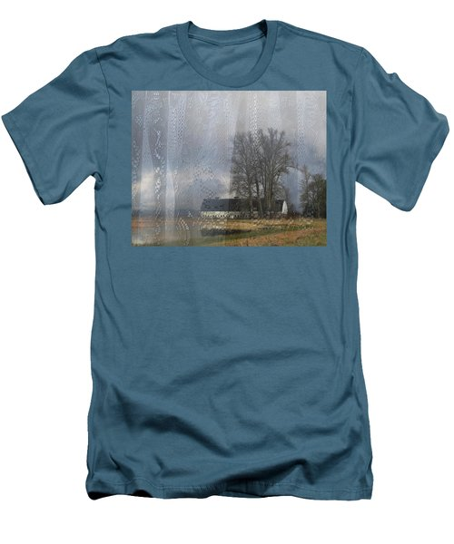 Curtains Of The Mind Men's T-Shirt (Slim Fit) by I'ina Van Lawick