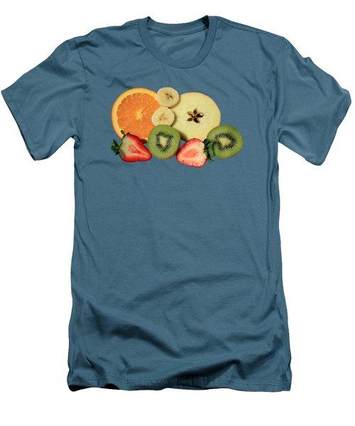 Cut Fruit Men's T-Shirt (Slim Fit) by Shane Bechler