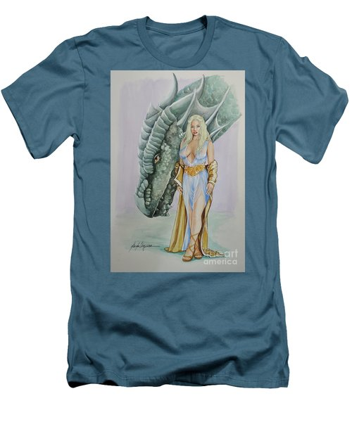 Daenerys Targaryen - Game Of Thrones Men's T-Shirt (Athletic Fit)