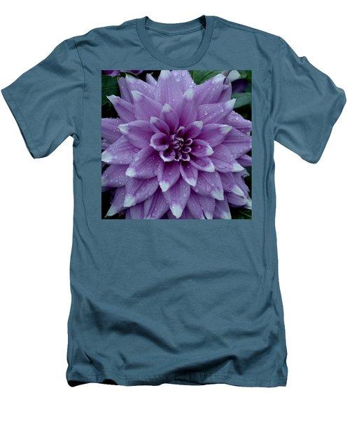 Dahlia In Rain Men's T-Shirt (Slim Fit) by Shirley Heyn