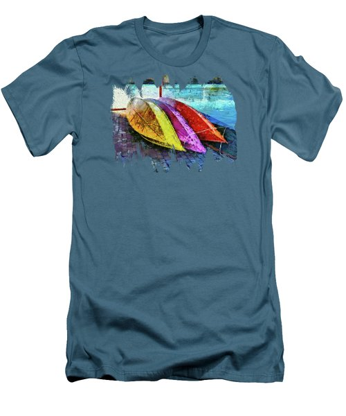 Men's T-Shirt (Slim Fit) featuring the photograph Daisy And The Rowboats by Thom Zehrfeld