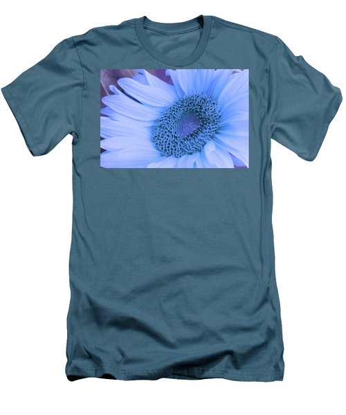 Men's T-Shirt (Slim Fit) featuring the photograph Daisy Blue by Marie Leslie