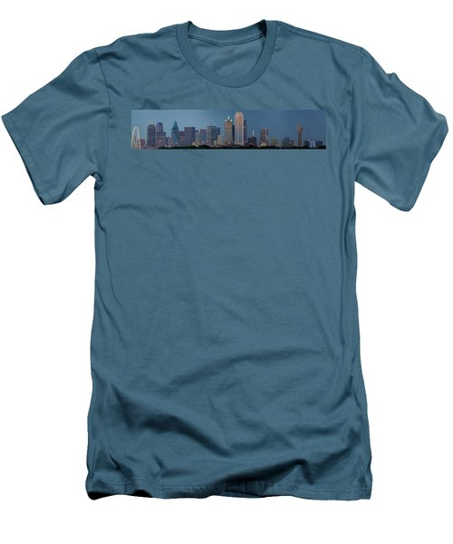 Dallas At Night Men's T-Shirt (Slim Fit) by Jonathan Davison