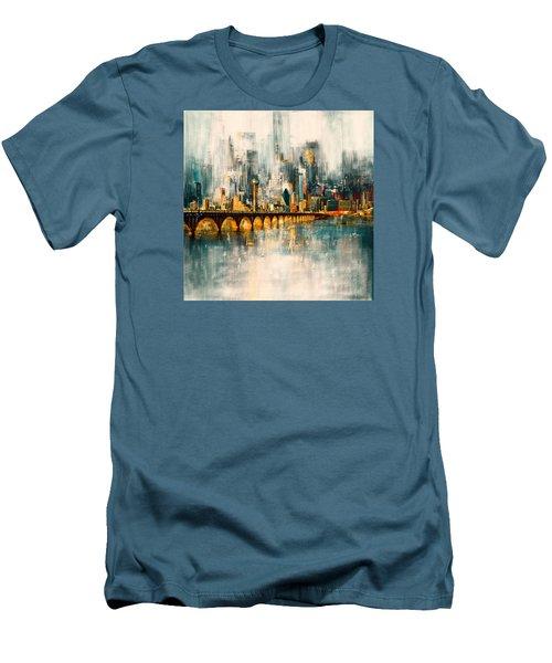 Dallas Skyline 217 3 Men's T-Shirt (Slim Fit) by Mawra Tahreem