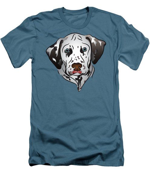 Dalmatian Portrait Men's T-Shirt (Athletic Fit)