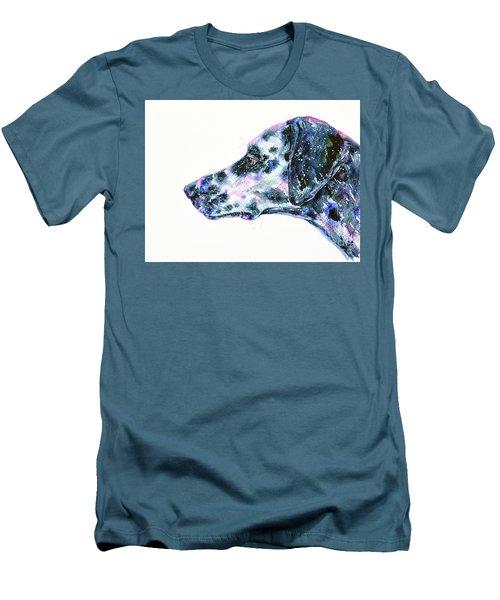 Men's T-Shirt (Slim Fit) featuring the painting Dalmatian by Zaira Dzhaubaeva
