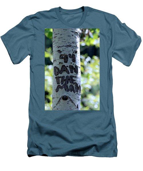Dan The Man Men's T-Shirt (Slim Fit) by Eric Tressler