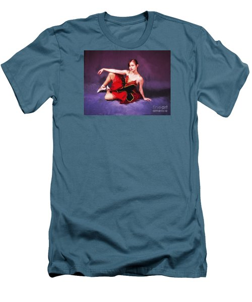 Dancer No. 6  ... Men's T-Shirt (Slim Fit) by Chuck Caramella